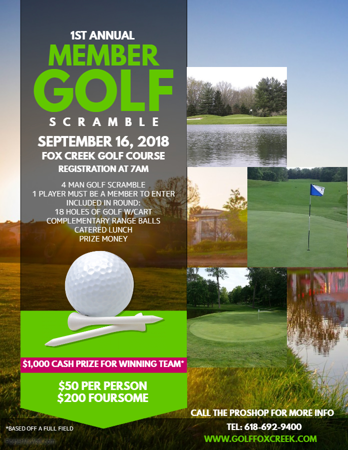 Members Scramble - Fox Creek Golf Course